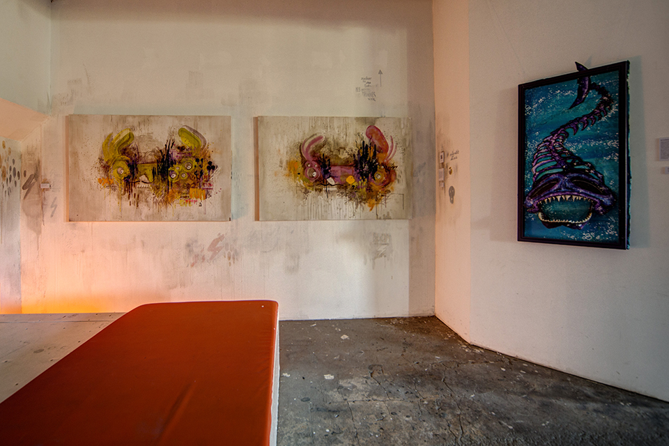 OZM Art Space Gallery UpTheWall © 2014 Danny Doom - Dirk Vorndamme